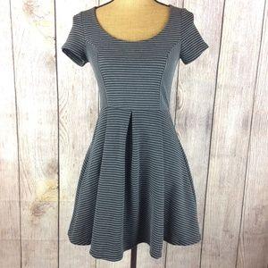Rewind Grey & Black Fit & Flare Skater Dress Sz S